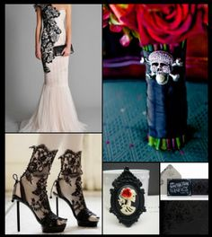 Calaveras sugar skull wedding on pinterest sugar skull for Sugar skull wedding dress