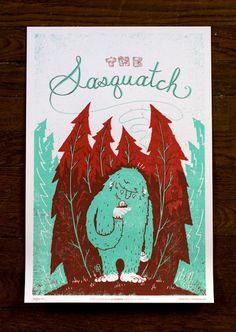 The Sasquatch | Illustrator: Julian Baker of Family Tree Design #illustration