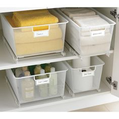 The Container Store > elfa Mesh Cabinet-Sized Mesh Easy Gliders