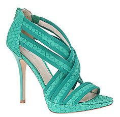 sandalias verde agua