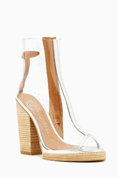 clear bootie