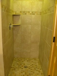 Remove that tired old acrylic shower stall and install tile!