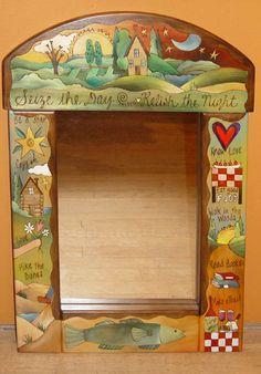 """Seize the Day Mirror"" - Handmade Wood Furniture by Sticks"