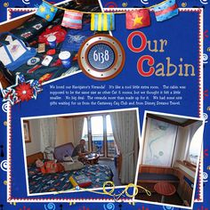 Disney Cruise Scrapbook Layout