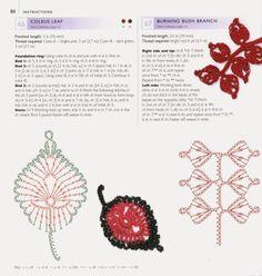 Ivelise Feito à Mão: Vários Motivos De Folhas Em Crochê