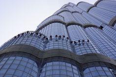 Armani Hotel Dubai and their brave window washers.