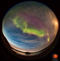 the wonders of a northern lights effect on earth seen from space