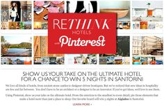 Tablet -- Showcasing the cool hotels of the world.  #rethink_hotels