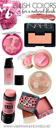7 shades that work well for all skin tones from drugstore to high end so that there is something for everyone! #beauty #beautytips #makeup #blush