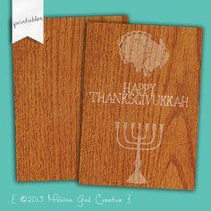 Thanksgivingukkah, Thanksgivikkah, Thanksgivukkah Invitation by MelissaGailCreative, $5.00 (Hanukkah and Thanksgiving Card)