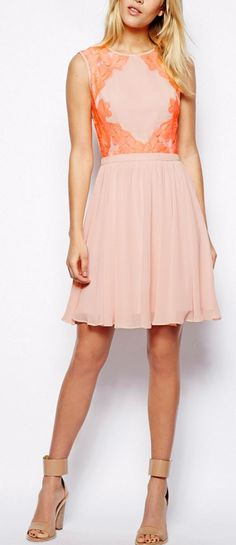 Peachy dress by Ted Baker London