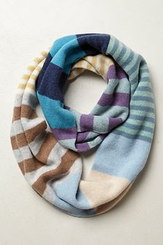 Voyager Striped Infinity Scarf #anthropologie