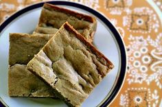 Quick and easy blondie recipe.  Like brownies in shape and texture, blondies are flavored with brown sugar in place of chocolate.  Delicious! ~ SimplyRecipes.com