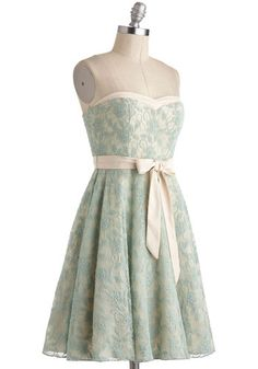A Chance to Dance Dress in Mint, #ModCloth