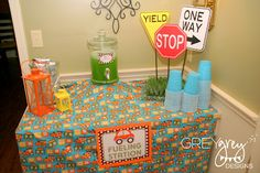 GreyGrey Designs: {My Parties} Brett's Planes, Trains, and Automobiles 2nd Birthday Party