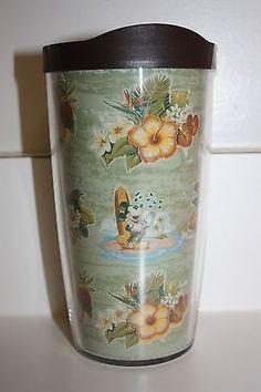 NEW Disney Aulani Mickey Mouse Ukulele Hawaii Floral Tervis Acrylic Tumbler 16oz