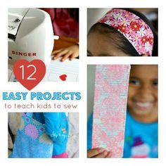 Sew Easy: 12 Easy Sewing Projects for kids
