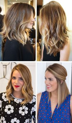 Love @galmeetsglam's long angled bob hairstyles with brown to blonde balayage. Treat your brown, beautiful hair with the best haircare from Beauty.com.