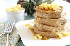 Pancake battered pineapple rings