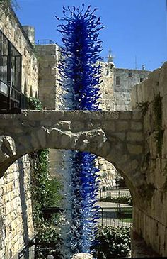 """""""Chihuly in the Light of Jerusalem 2000"""" -- in the Tower of David."""