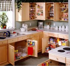 great ideas for kitchen cabinet organization!