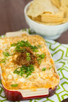 Creamy Caramelized Onion and Roasted Garlic Dip | browneyedbaker.com #recipe #appetizers #gameday
