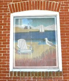 beach scene, painting on window screens, screen painting, paint window, paint screen, screen doors