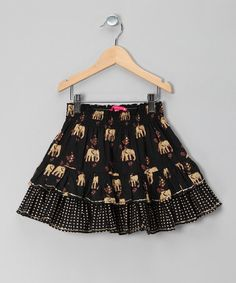 Take a look at this pink chicken Black Elephant Skirt - Toddler & Girls by pink chicken on #zulily today!