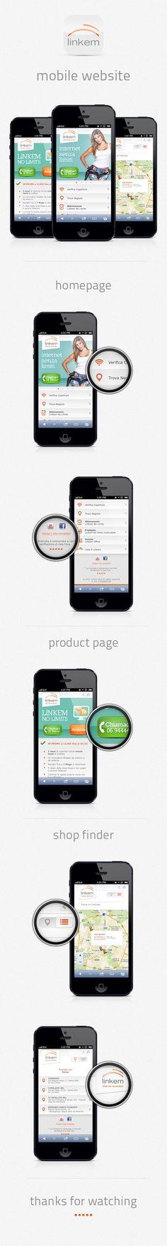 Linkem Mobile #Website by Davide Baratta, via #Behance #Mobile    ----BTW, Please Visit:  http://artcaffeine.imobileappsys.com