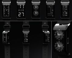 One watch with many faces. Features an E-Ink display which is LED back lit, but its face is not constant, meaning you can change it at whim or fancy. Hook the watch up to the internet and download your kinda face to it.