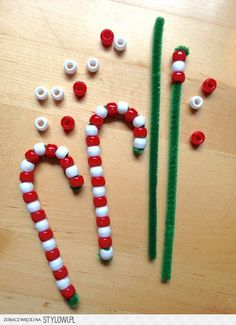 easy kids christmas crafts | Christmas! / Easy Kids Craft: Pipe Cleaner Candy Canes na Stylowi.pl