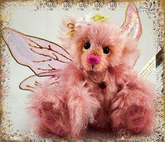 OOAK handmade mohair bear by SallyannBears on Etsy, $50.00