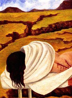 1946 Frida Kahlo Arbre de l'espérance, Tiens-toi droit, Détail, le corps, Tree of the hope, Be held right, Détail, the body. #Art #Mexico #deFharo