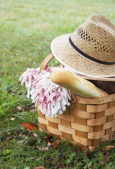 Baguette, hat, blanket, Sauza® Sparkling Margarita. Done! #picnic #summer #SauzaSparkling @Sauza® Tequila