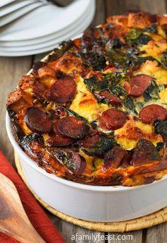 recipe on ef sausage kale cheddar strata sausage kale sausage kale and ...