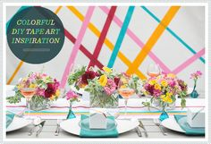 REVEL: Colorful DIY Tape Art Inspiration