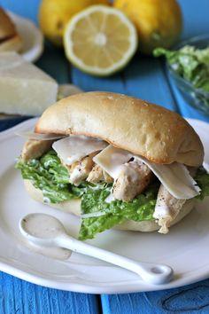 Chicken Caesar ciabatta bread