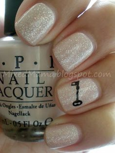 OPI Samoan Sand Glitter - wedding nails