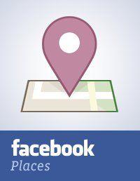 """""""Facebook Places nos permite compartir con nuestro amigos la ubicación en la que nos encontramos, ver dónde están ellos y descubrir nuevos sitios. Si nos fijamos en el logotipo, nos damos cuenta de que hay un 4 en la """"plaza"""". ¿Un guiño a  Foursquare?"""" (Marketingdirecto.com)"""