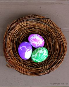 DIY Easter Eggs: Toddler Friendly Egg Decorating from Fun at Home with Kids