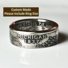 Michigan State Quarter Ring by TheRingTree on Etsy