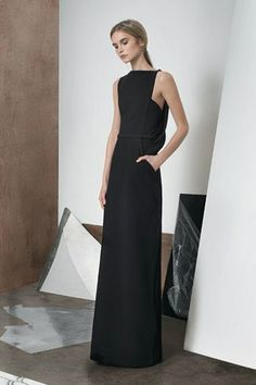 Elegance in Simplicity - long black dress; minimal fashion; understated style // Zaid Affas
