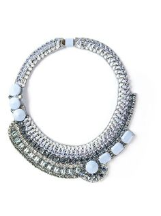 Shop now: Barbara Bui crystal embellished necklace