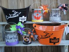 Cricut Halloween Trick or Treat Pail and Bucket