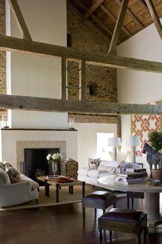Stone Barn Conversion   Design by Joan Craig   Chicago, IL...