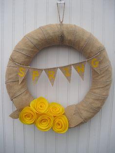 burlap wreaths, wreath 14