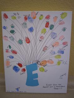 Fingerprint Balloon for our son's adoption celebration.