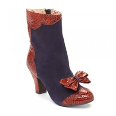Miss L Fire Virginia Navy Womens Mid Heel Boot---also comes in leopard!!