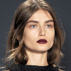 Fall 2013 hair/makeup trend: tossled hair and wine lips