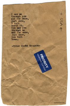 Typewriter Series #702byTyler Knott Gregson